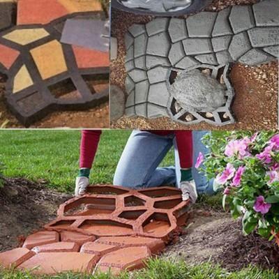 Garden Paving Plastic Mold For Garden Concrete Molds For Garden Path DIY  Stone Paving Mold,