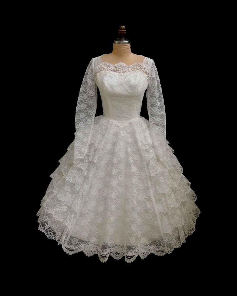 Vintage us tiered illusion lace wedding dress which is the same