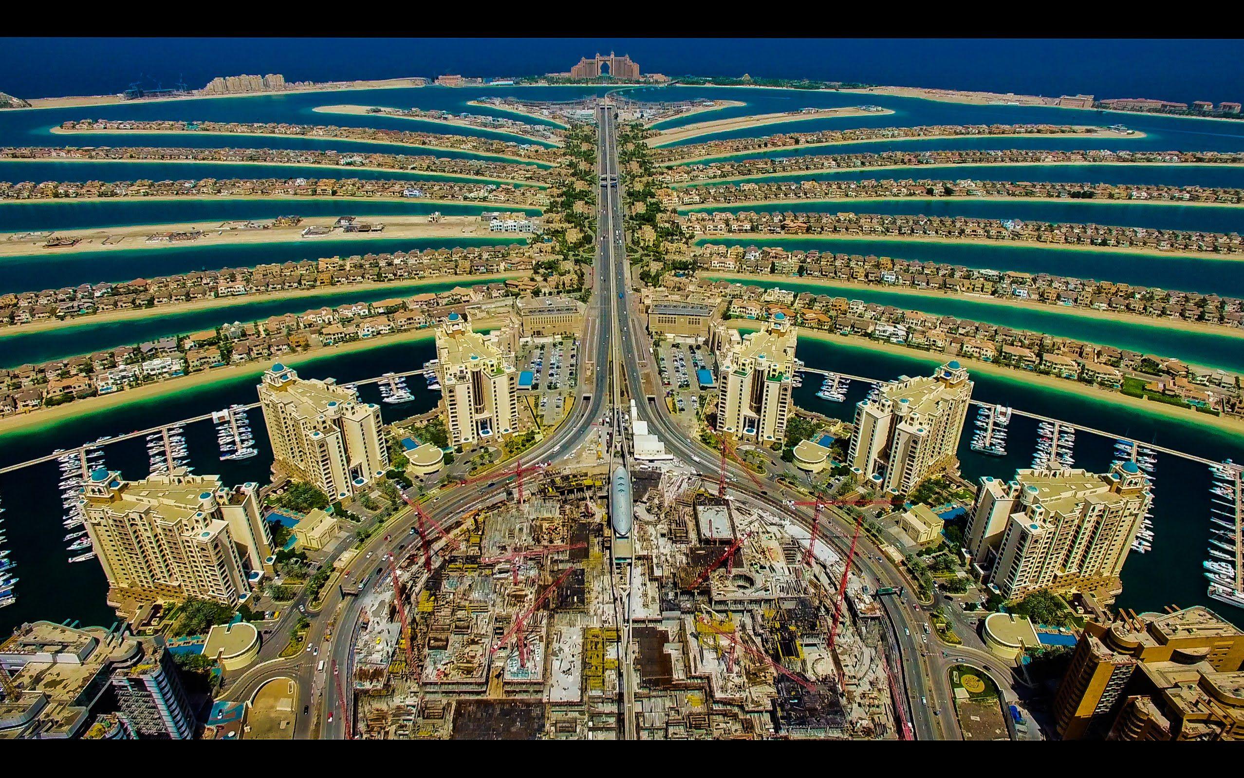Palm Jumeirah - Island in Dubai - Thousand Wonders  |Palm Island Dubai From Burj Hotel