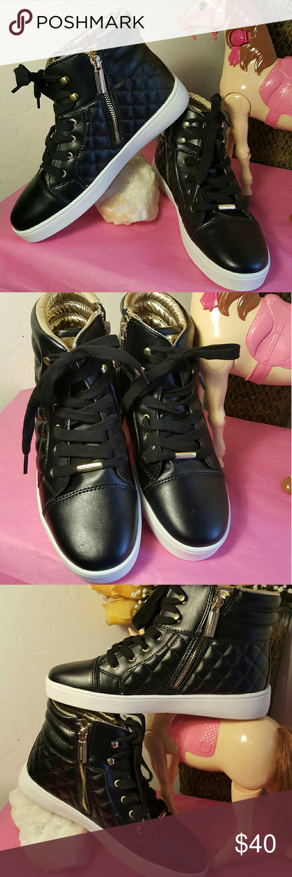 c9b8b4365ee Girls Michael Kors High top shoes NWOT These are beautiful Michael Kors Ivy  Casey style black