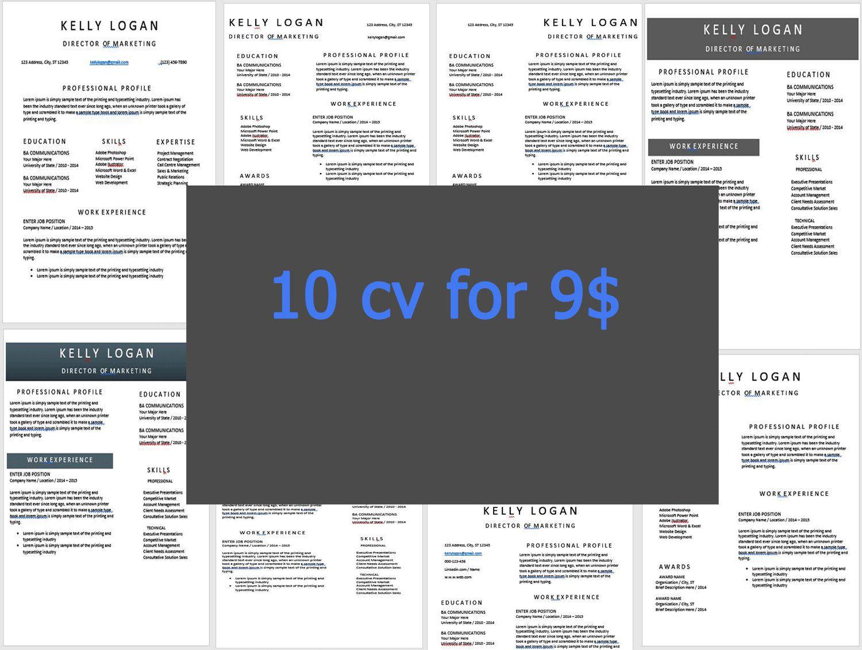 Resume/CV Template BUNDLE, 10 Best Selling Resume