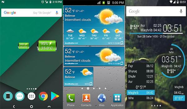 افضل التطبيقات المصغرة ويدجيت لتخصيص شاشة جوالك بحرية درويد Best Android Widgets Android Widgets Best Android