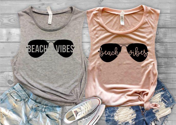 Beach Vibes Tank Top  Beach Vacation Shirt  Vacation Shirt  | Etsy