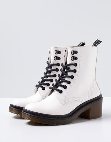 Bershka Heeled Military Ankle Boots Boots Ankle Boots Combat Boots