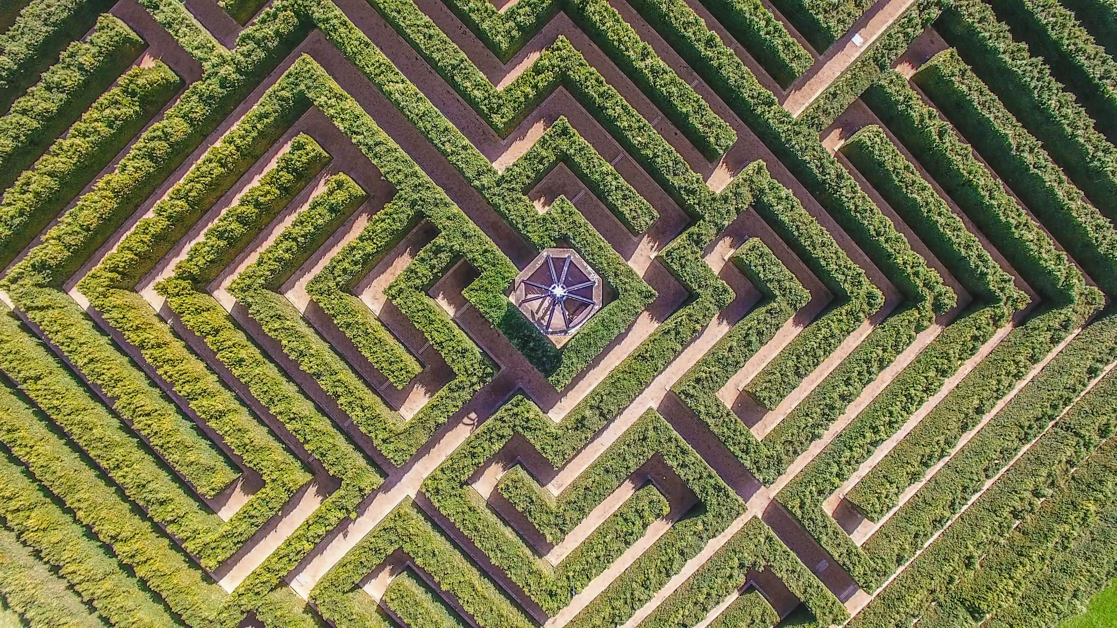 Get lost in Mayfield's English inspired maze during the