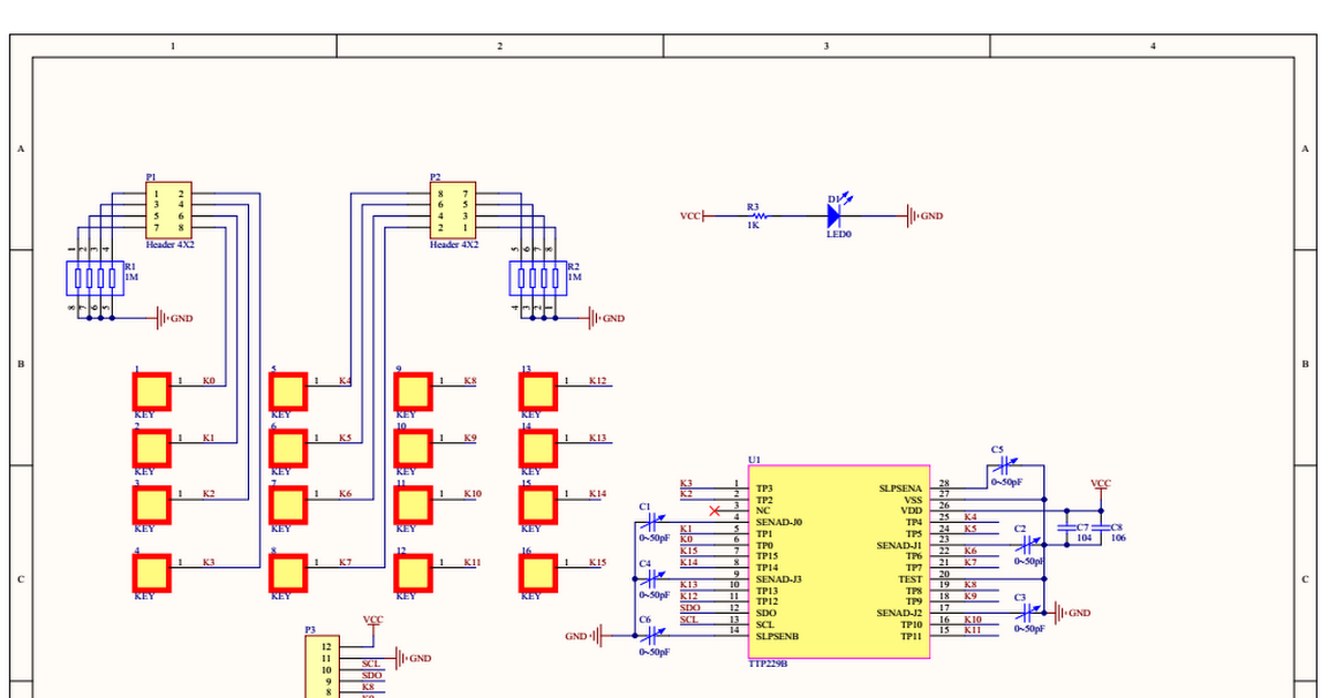 TTP229  16 channel capacitive touch sensor   Datasheets  Pins  Connections  Circuits in 2019