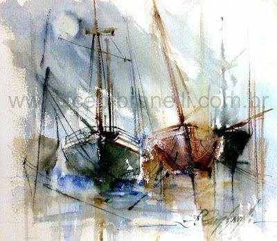 Fábio Cembranelli - Boats watercolor sketch