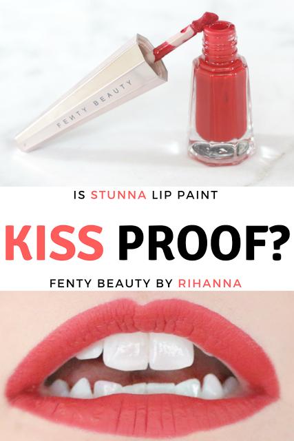 Is Rihanna S Stunna Lip Kiss Proof Fenty Beauty By Stunna Lip Paint Longwear Fluid Lip Color Review Lip Paint Kiss Proof Lip Colors
