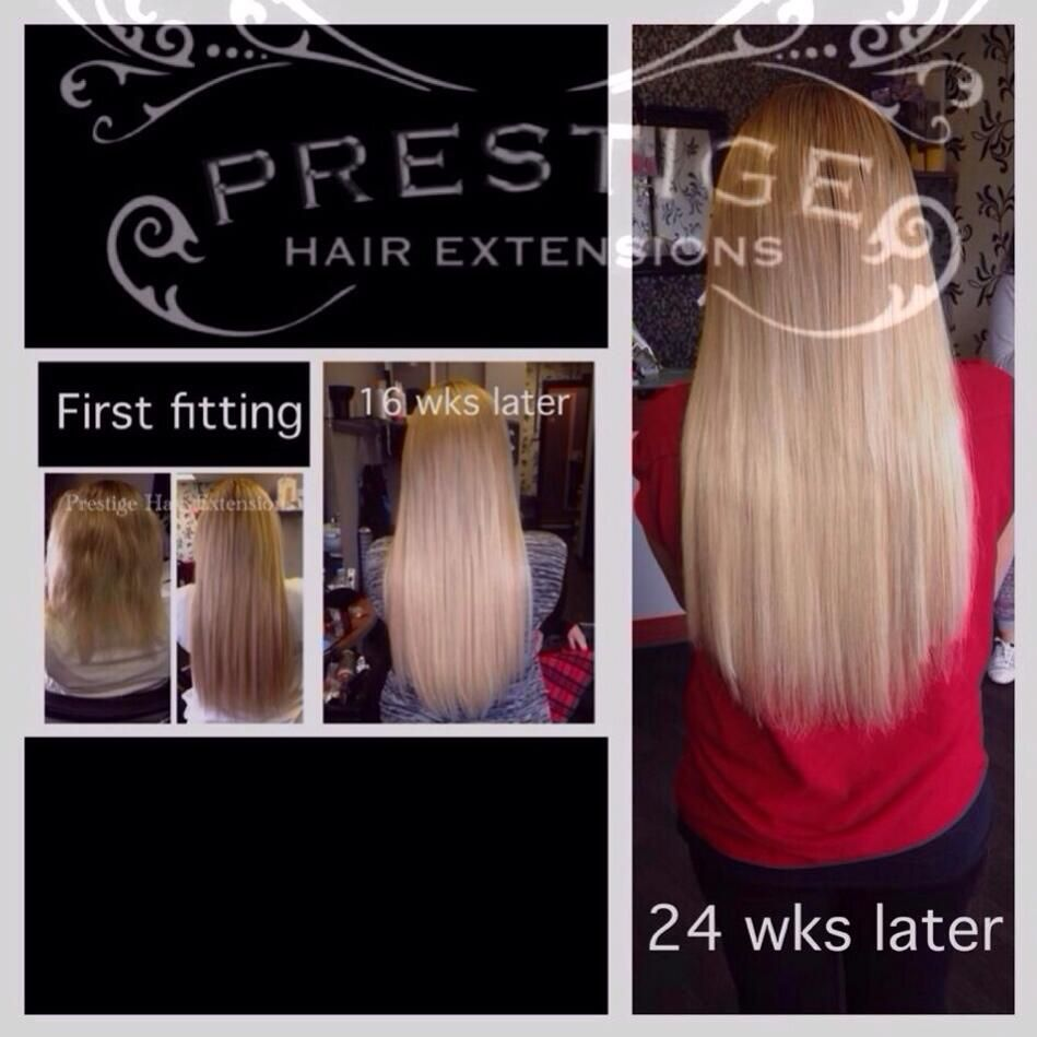 24 Weeks After First Installation Prestige Keratin Bonded Hair