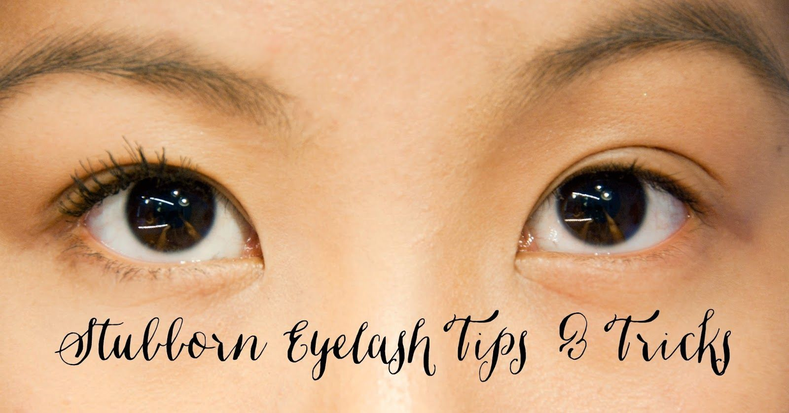 How To Make Stubborn Eyelashes Work Using A Waterproof Mascara