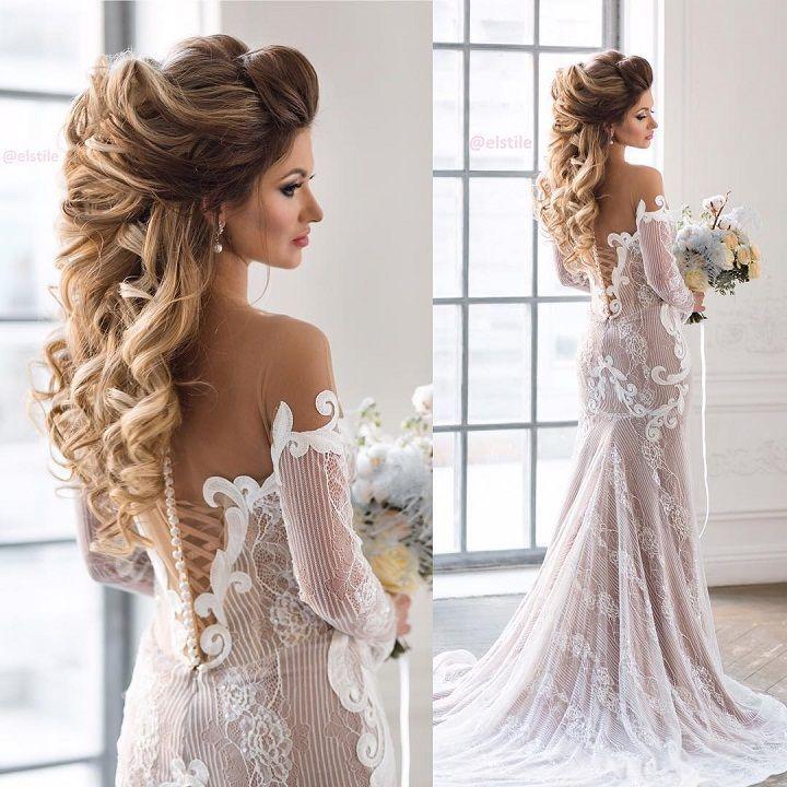Beautiful Bridal Hairstyle Long Hair Long Hair Wedding Styles