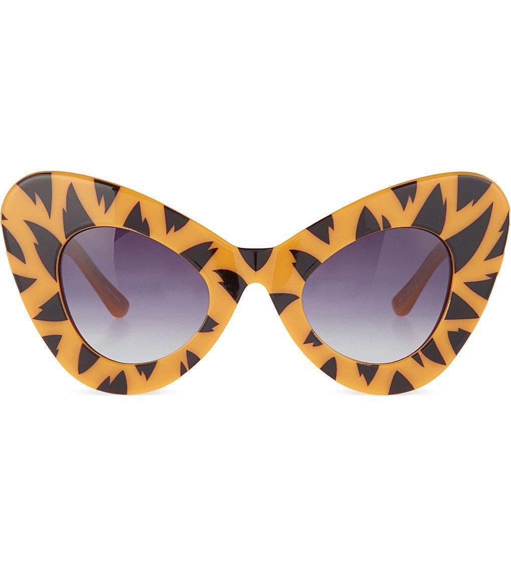 JEREMY SCOTT - Tiger print cat-eye sunglasses   Selfridges.com