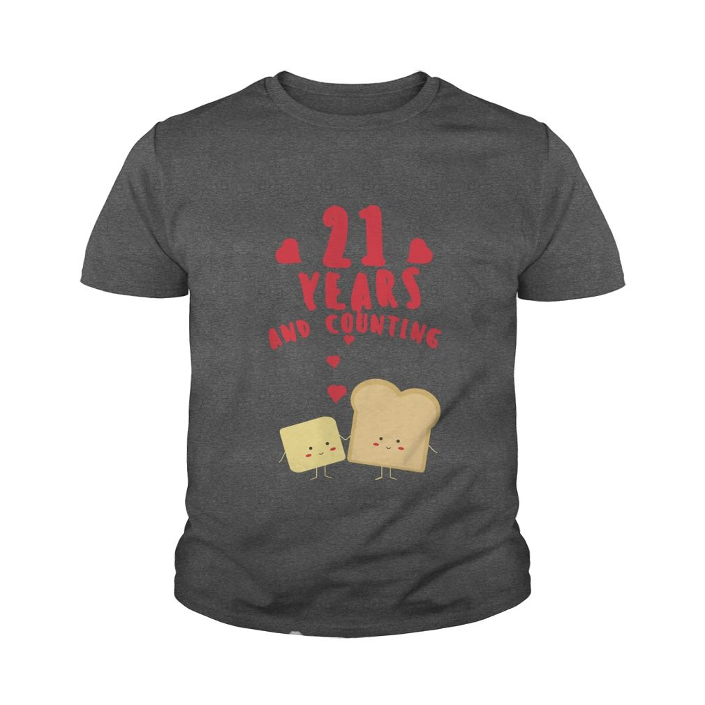 Awesome T Shirt For Husband And Wife 21st Wedding Anniversary Gift