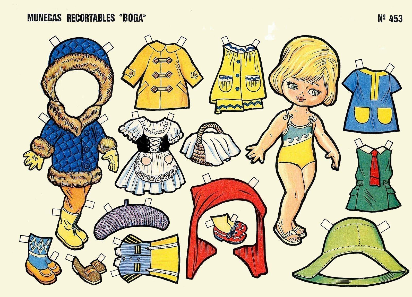 Muñeca Recortable 8 Juegos De Vestir Muñecas Recortables