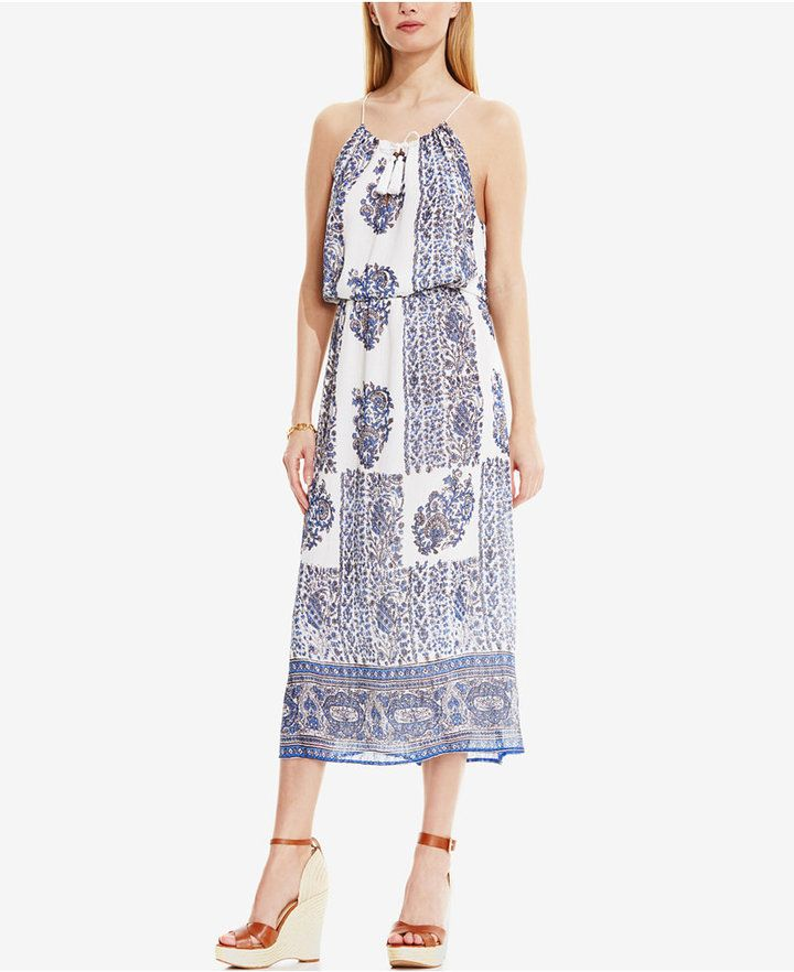 922aa6c17a8d6 Vince Camuto Printed Halter Maxi Dress - ShopStyle Day