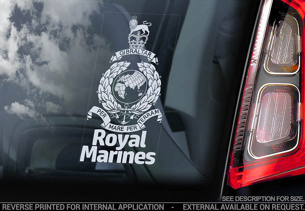 Royal Marines Car Window Sticker Forces Military British Navy - Military window decals for cars