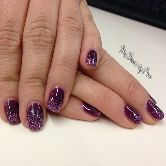 Gelish Plum & Done Gel Nail Polish. Dark purple nails. Martha ...