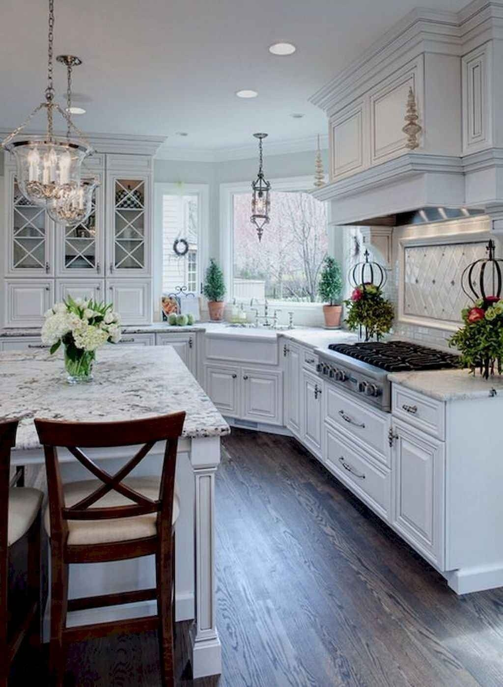 100 Elegant White Kitchen Cabinets Decor Ideas For Farmhouse Style Design 27 farmhouse #100 #elegant #white #kitchen #cabinets #decor #ideas #for #farmhouse #style #design #27