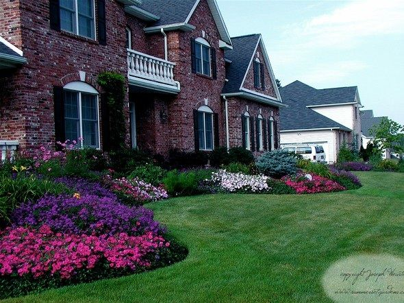 Landscaping  Beauteous Shaded Front Yard Garden Landscaping Design Ideas  With Bed Flowers  Sophisticated ShadedLandscaping  Beauteous Shaded Front Yard Garden Landscaping Design  . Shade Garden Ideas For Front Of Homes. Home Design Ideas