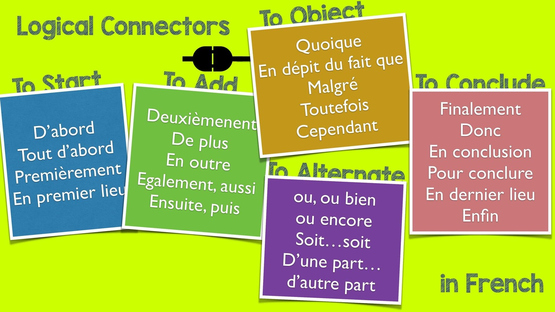Logical Connectors In French