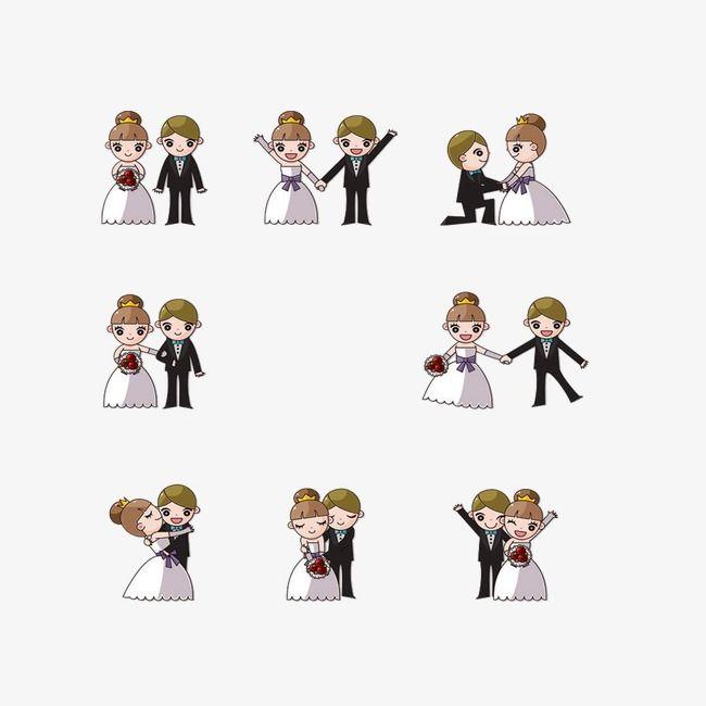 Le mariage de personnages de dessin animé, De Matériau, Photos De