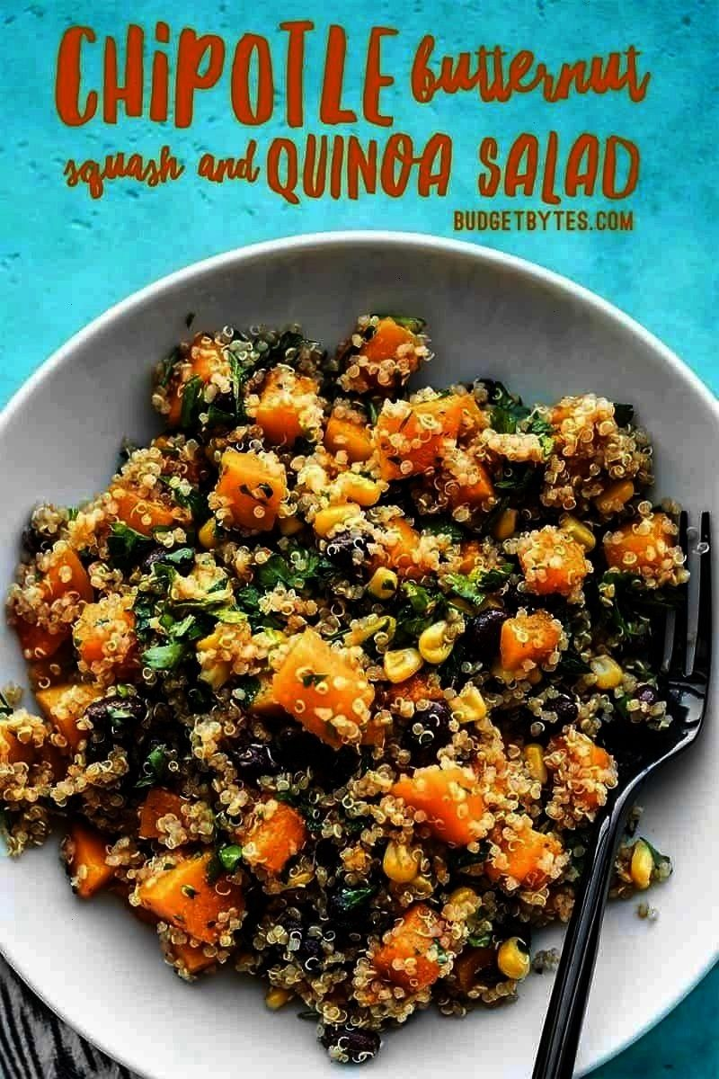 Butternut Squash and Quinoa Salad holds up well in your refrigerator for fast and easy lunches all