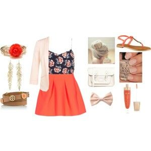 """""""Girly spring look"""" made by lovelyy-213 on polyvore"""