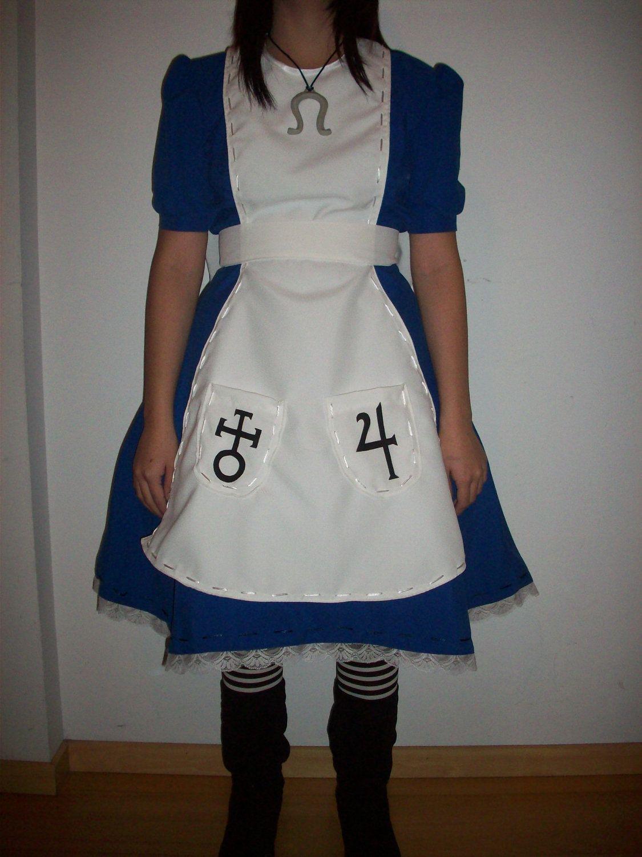 White apron like alice - Alice Liddell Madness Returns Classic Dress Cosplay Costume Handmade Custom 150 00 Via Etsy