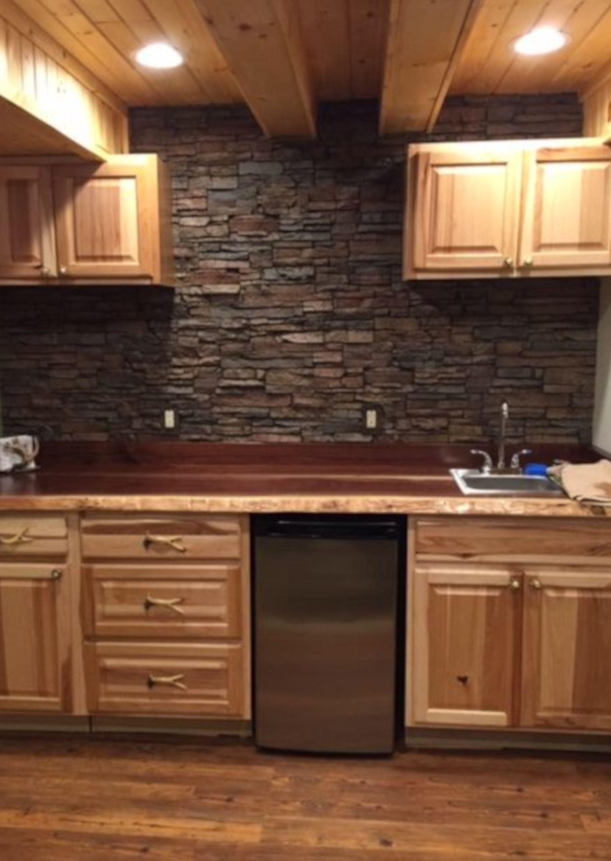 Stacked Stone Backsplash For Kitchen Appliance Stone Backsplash