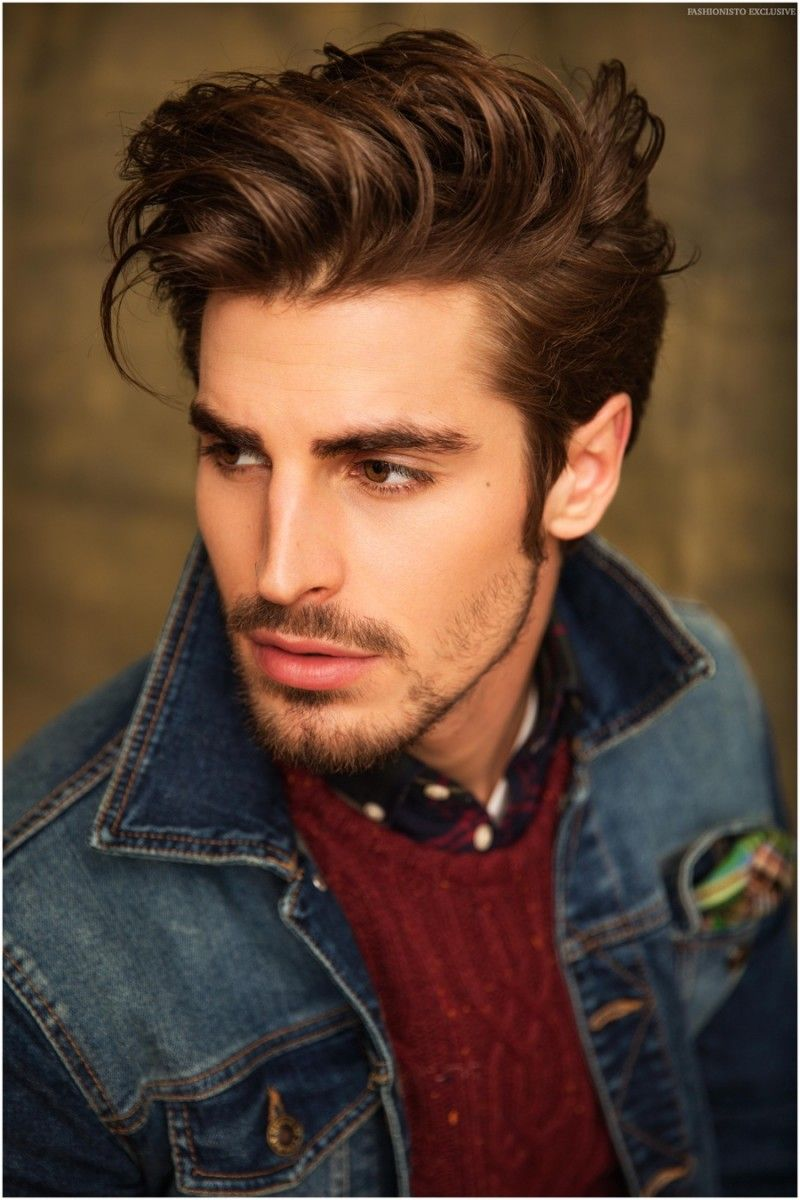 Medium haircuts for men with thick hair  hairstyles for thick hair menus  hairstyle  pinterest  dean