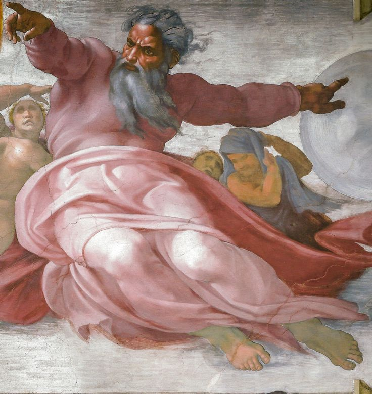 Michelangelo The Creation Of The Stars 1511 In The Sistine