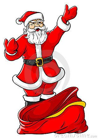Christmas Santa Claus With Big Empty Sack Santa Claus Santa Christmas Vectors Choose from 290+ cartoon christmas tree graphic resources and download in the form of png, eps, ai or psd. christmas santa claus with big empty