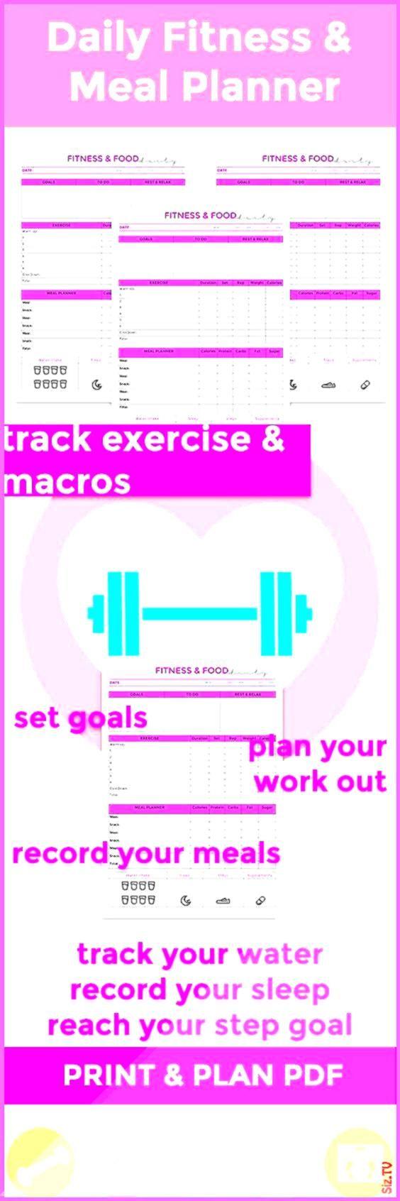 #printable #planner #workout #tracker #fitness #hellip #weekly #dianne #daily #macro #habit #goal #n...
