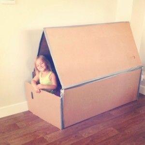 Collapsible Cardboard Playhouse   GeekyEyes