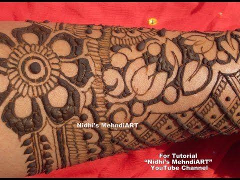 Creative Full Hand Latest Traditional Bridal Wedding Henna Mehndi Design...