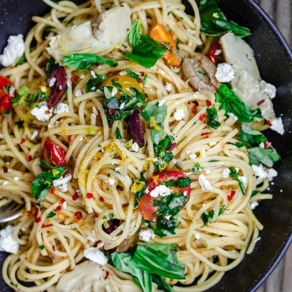Photo of Simple Mediterranean Olive Oil Pasta | The Mediterranean Dish
