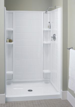 Sterling 72120100 Bath Fiberglass Shower Sterling
