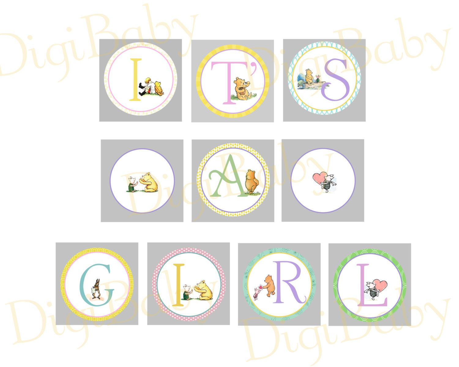 Baby Shower Banner Winnie The Pooh Baby Shower Banner Its A Girl Print At Home