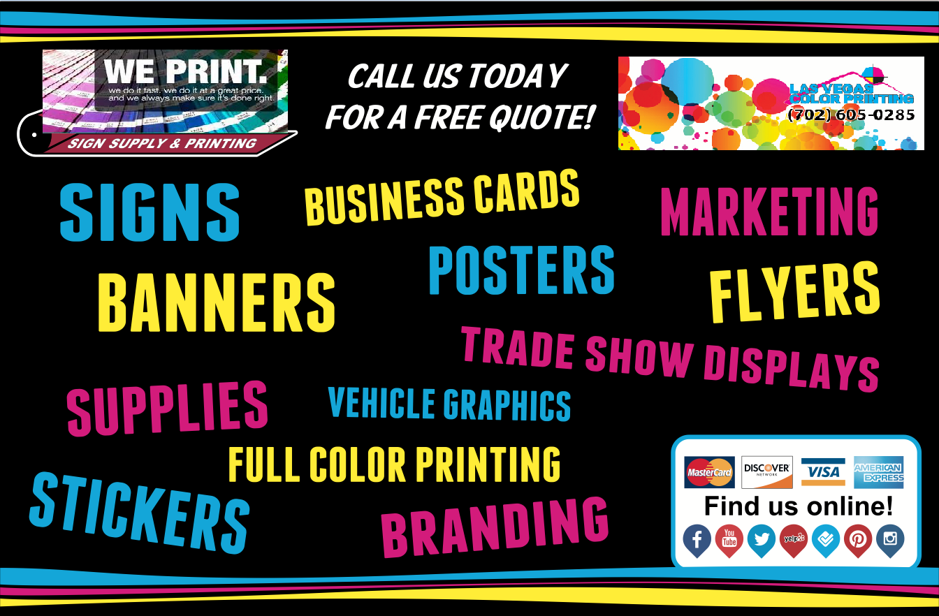 Our company specializes in delivering fast custom full service welcome to las vegas color printing your one stop online hotspot for screen printing and best color printing services reheart Choice Image