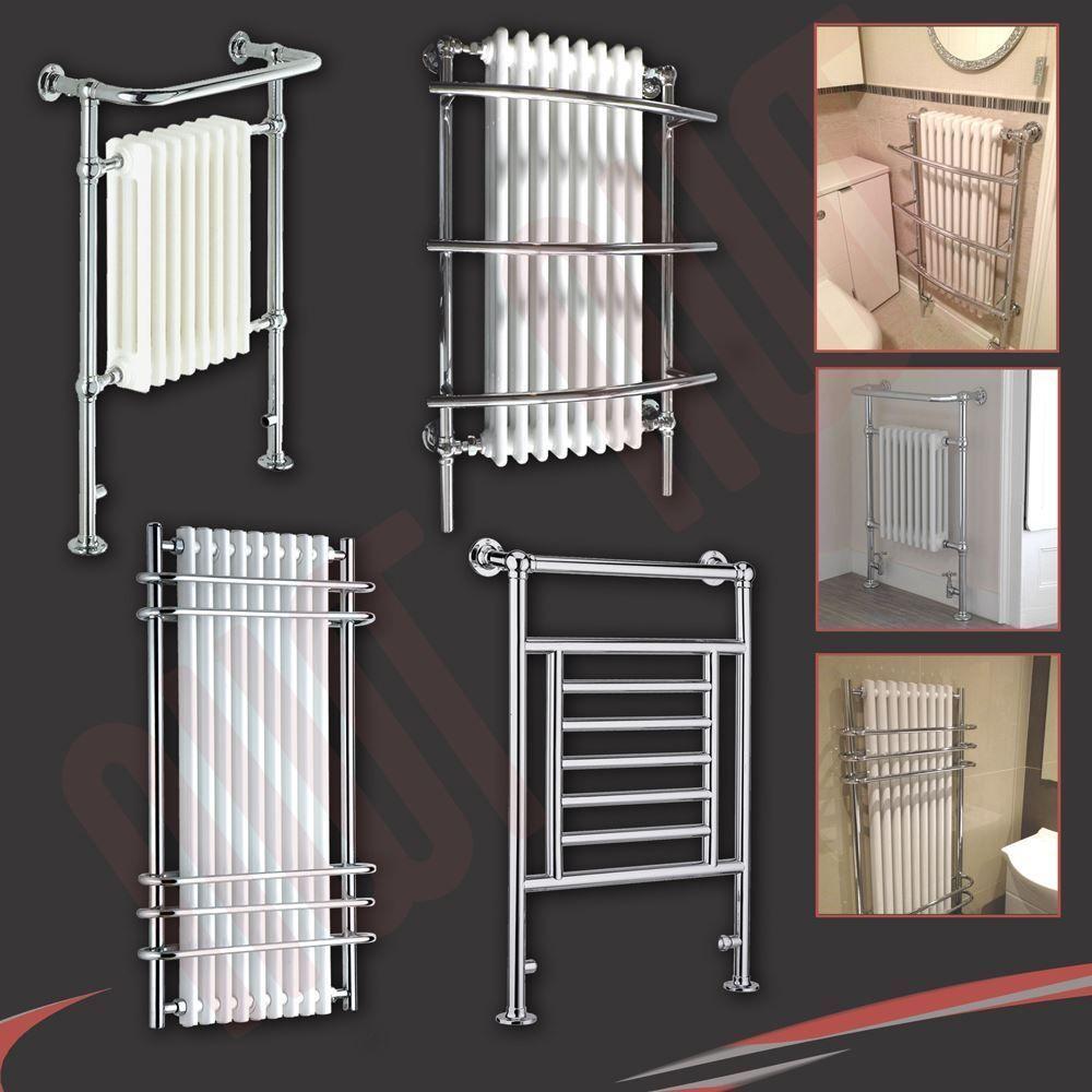 Electric Towel Rails: Details About HIGH BTUs! Traditional Designer Chrome