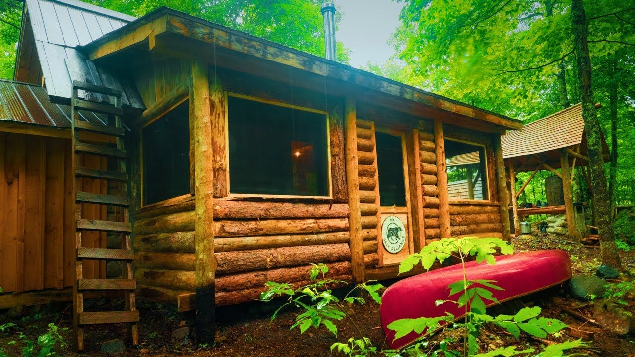 Adding a screened door to my log cabin and more off grid