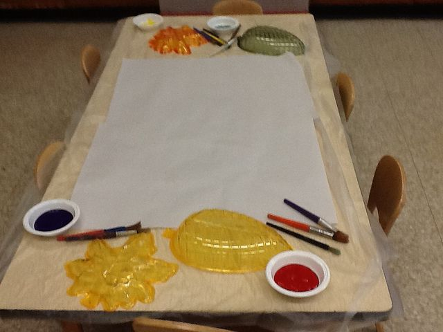 preschool art table. Fall Prompt At The Art Table. Preschool Table N