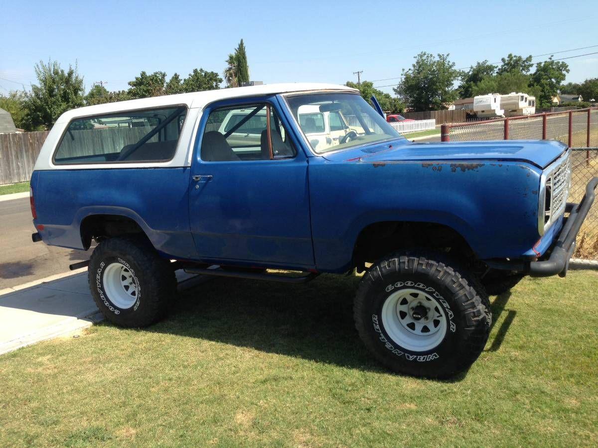 1974 Smog Exempt In Bakersfield Ca Dodge Ramcharger 4x4 Trucks Power Wagon