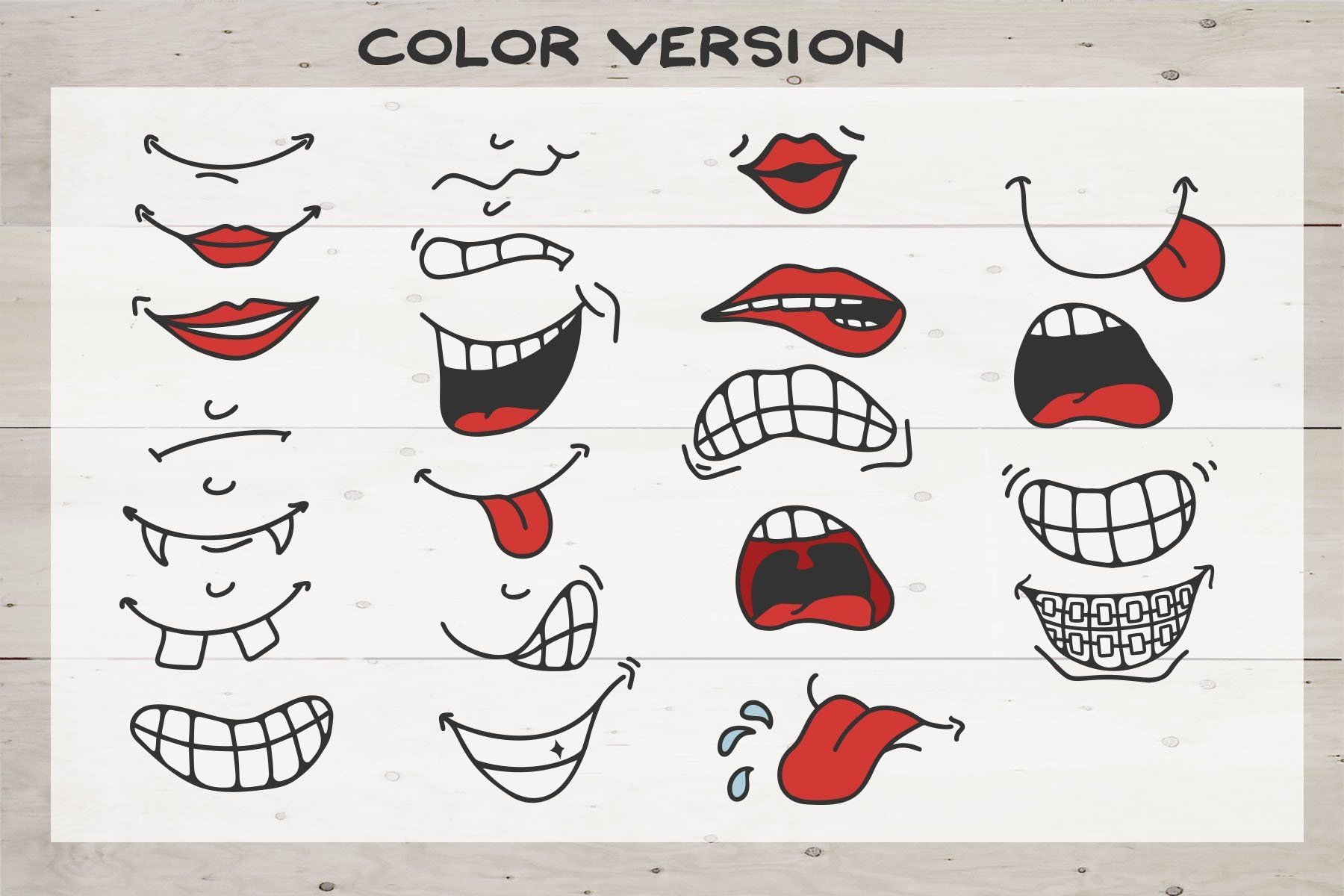 Cartoon Face SVG Bundle Face Mask Smiles (550192