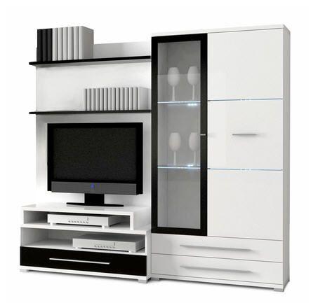 Ensemble meuble TV Great Blanc/Noir prix promo La Maison de Valerie 324.99 € TTC au lieu de 499.99 €