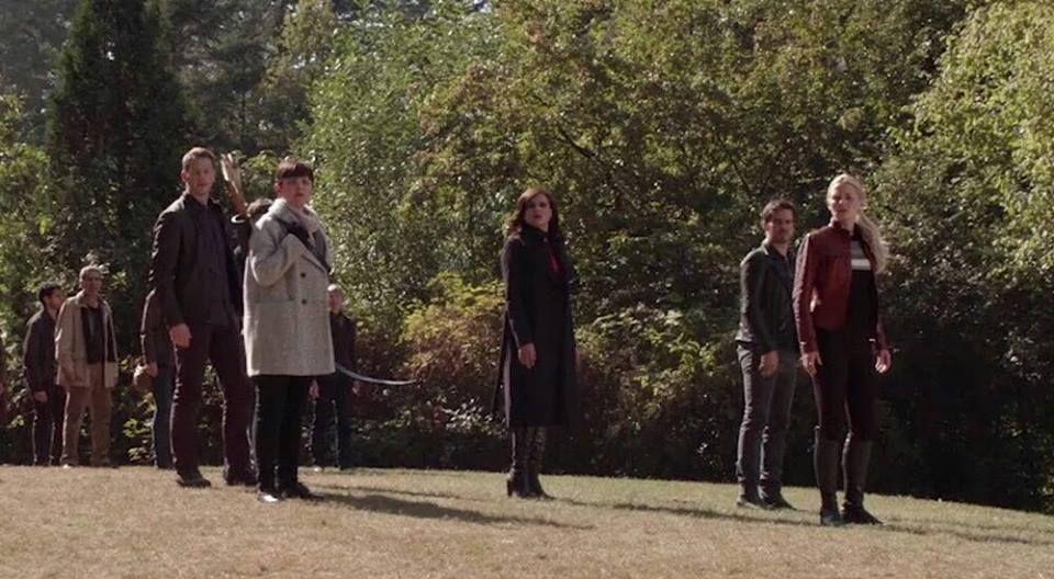 Colin O'Donoghue -Killian Jones - Captain Hook and  Jennifer Morrison - Emma Swan on Once Upon A Time