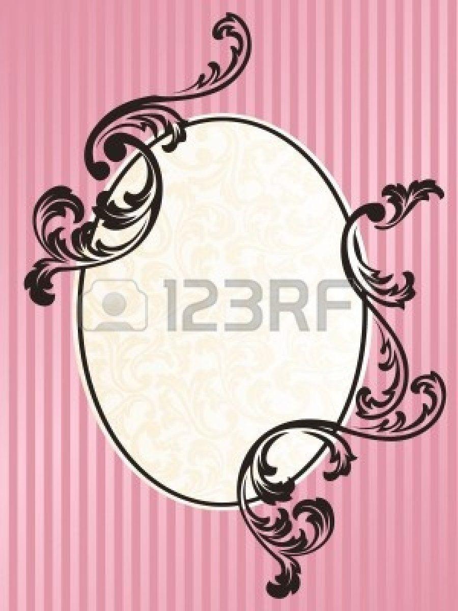 Marco de diseño elegante inspirado en el estilo rococó francés ...