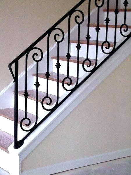 Iron Stair Railing Cost Interior Railing Kits Wrought Iron Stair