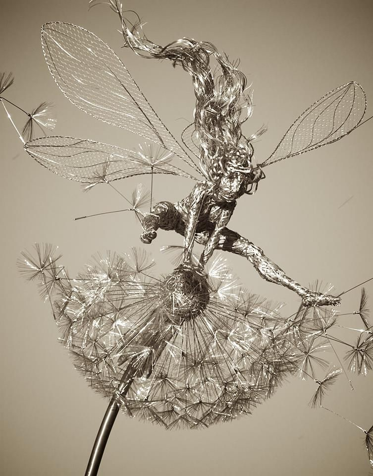 Pin by Fotini on Wire Sculpture | Pinterest | Fairy, Wire art and ...