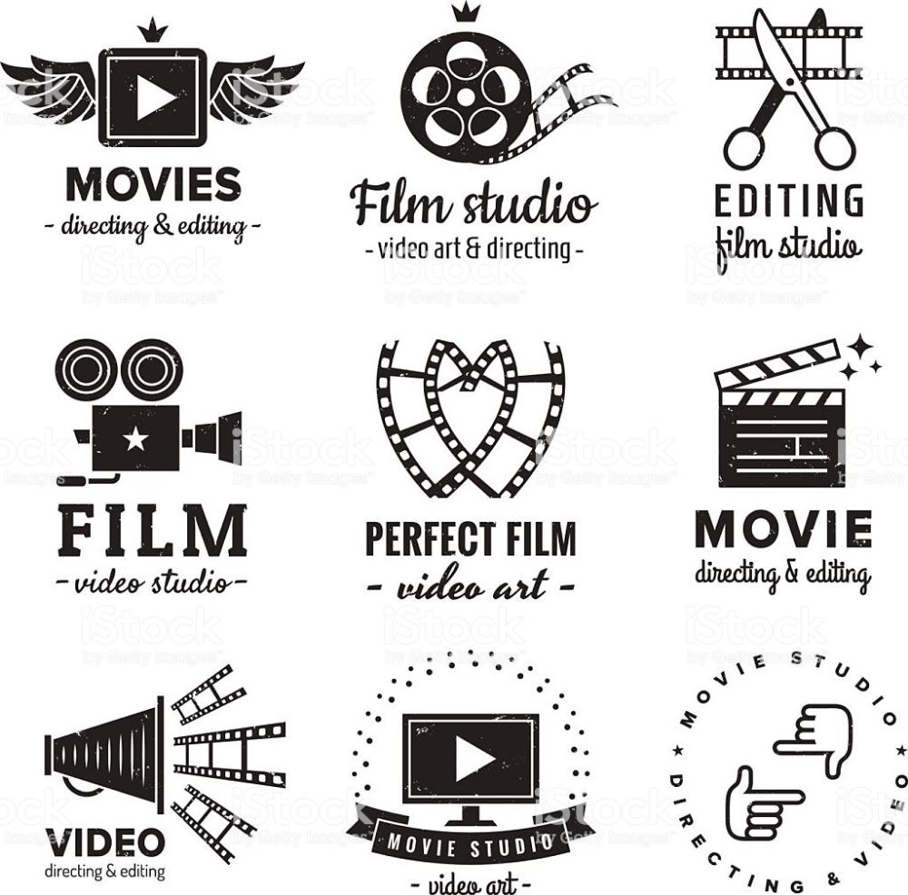 Film Movie And Video Logo Vintage Vector Set Hipster And Retro Film Logo Vintage Logo Movie Gifs